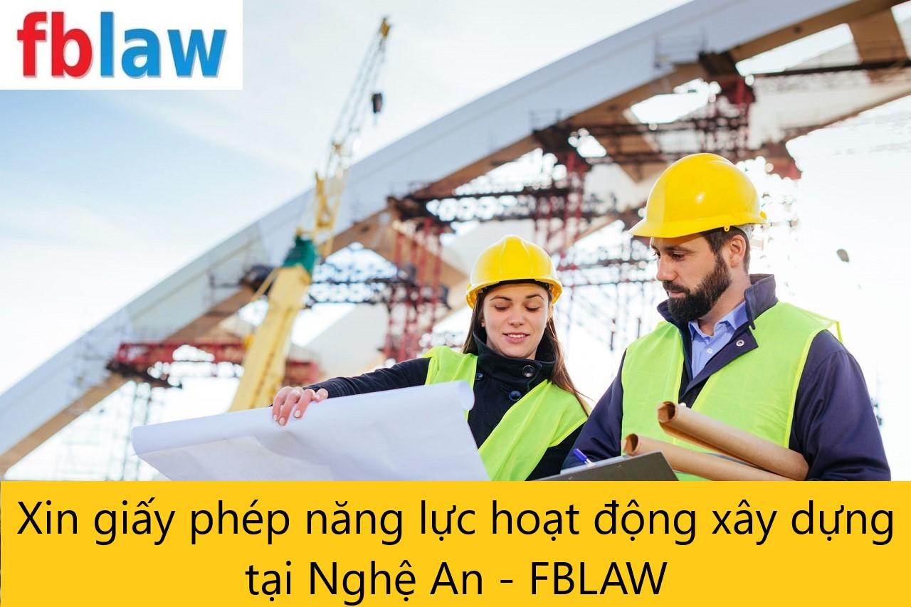 Xin giấy phép năng lực hoạt động xây dựng tại Nghệ An - FBLAW