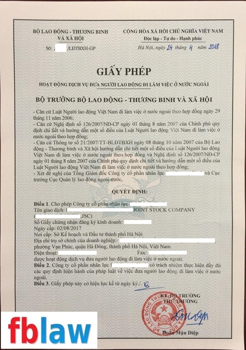 Thủ tục xin giấy phép xuất khẩu lao động tại Nghệ An - FBLAW 3