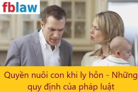 quyền nuôi con khi ly hôn - những quy định của pháp luật - fblaw 3