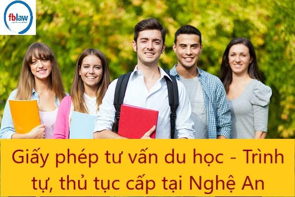 giấy phép tư vấn du học - trình tự, thủ tục cấp tại Nghệ An - Công ty Luật FBLAW 2