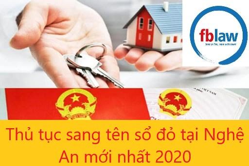 sang tên sổ đỏ tại Nghệ An-fblaw