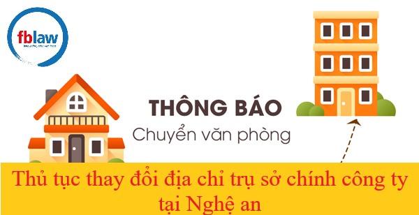 Thủ tục thay đổi trụ sở chính công ty tại Nghệ An-fblaw
