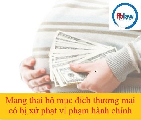 mang thai hộ vì mục đích thương mại