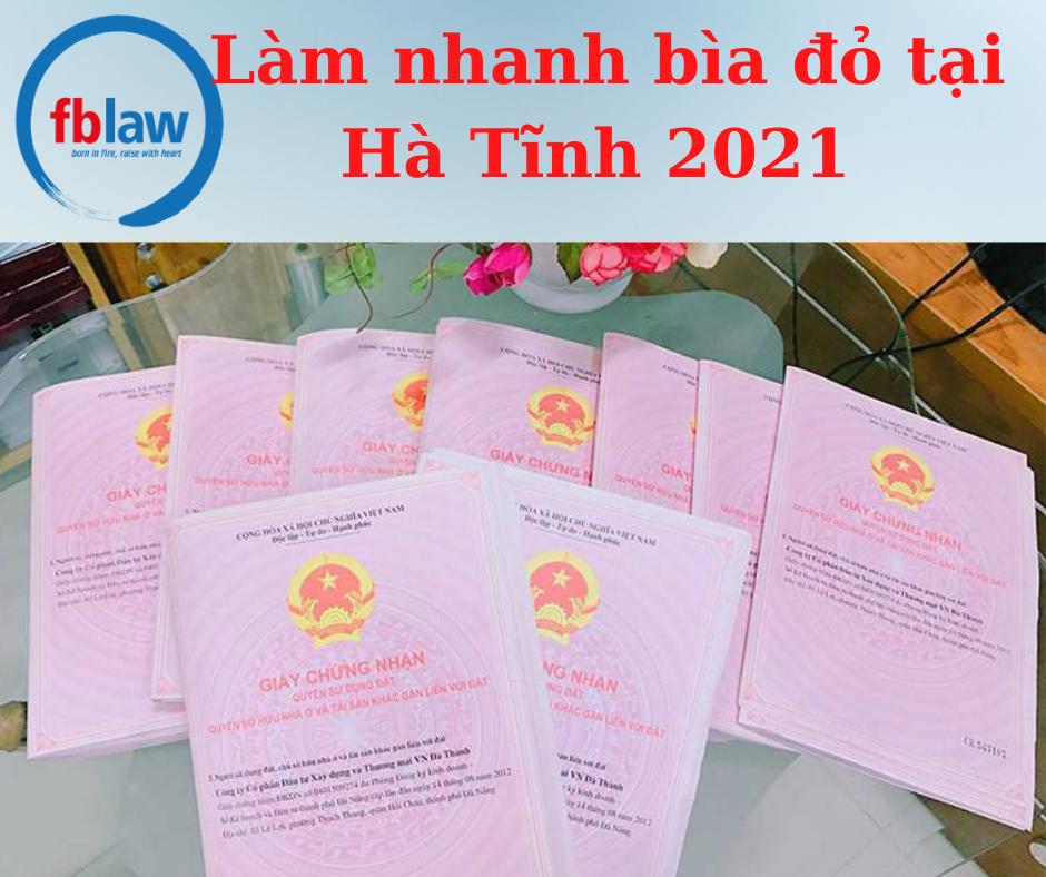 Làm nhanh bìa đỏ tại Hà Tĩnh năm 2021