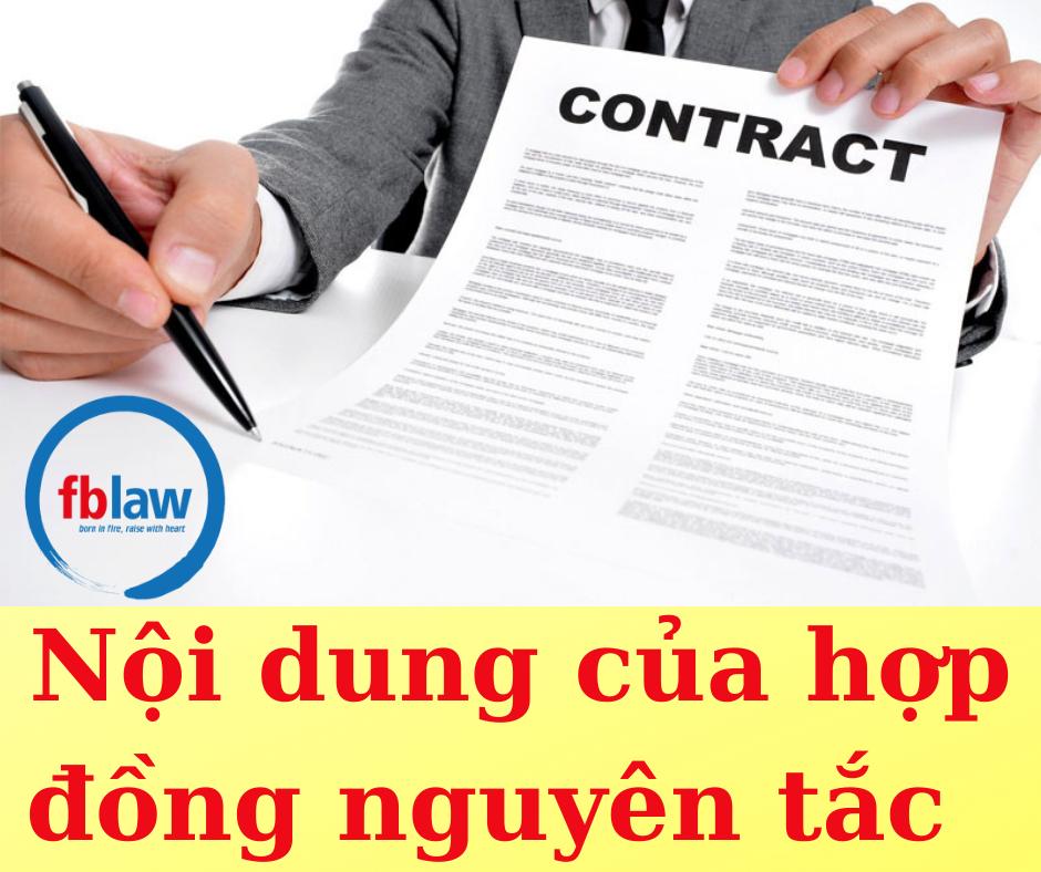 Nội dung của hợp đồng nguyên tắc