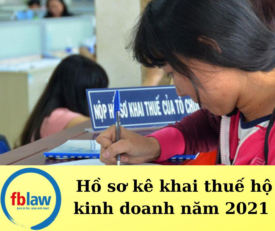Hồ sơ kê khai thuế hộ kinh doanh năm 2021
