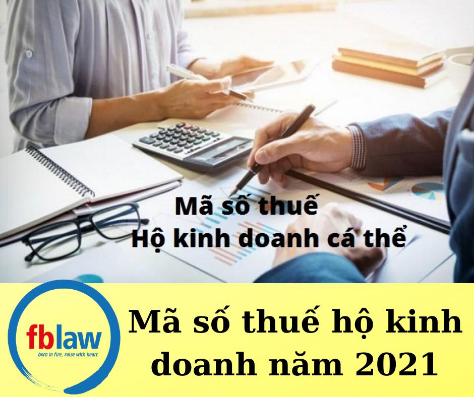 Mã số thuế hộ kinh doanh năm 2021